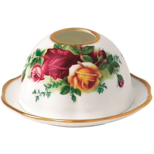 Royal Albert Old Country Roses Tea Light Votive (105 BRL) ❤ liked on Polyvore featuring home, kitchen & dining, royal albert and bone china