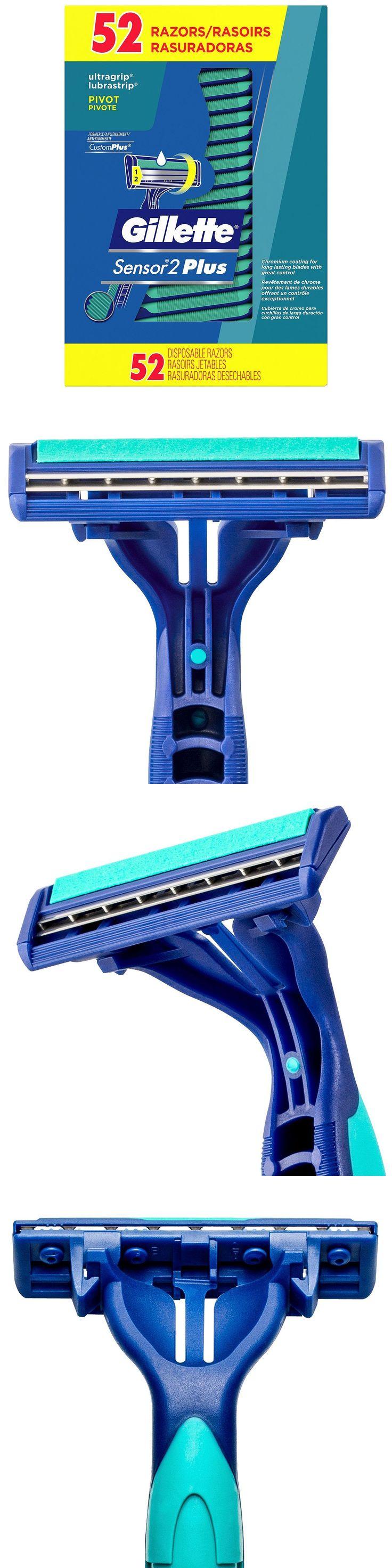 Shaving: 52 Men S Gillette Sensor2 Custom Plus Disposable Razor W Powder Lubrastrip -> BUY IT NOW ONLY: $34.79 on eBay!