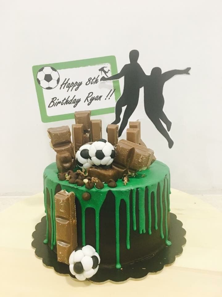 Soccer Themed Chocolate Drip Cake Cake Designs In 2019