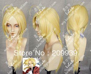 Кк 003 Новый Долго Теплая Блондинка Парик Эдвард Элрик Стальной Алхимик Косплей Партия