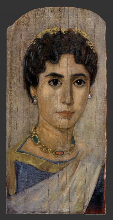 A well-to-do woman, Romano-Egyptian, 2nd to early 3rd century AD/CE.