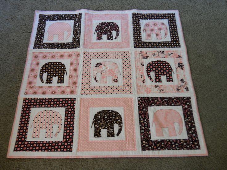 137 best Elephant quilts images on Pinterest   Quilt blocks ... : elephant applique quilt pattern - Adamdwight.com