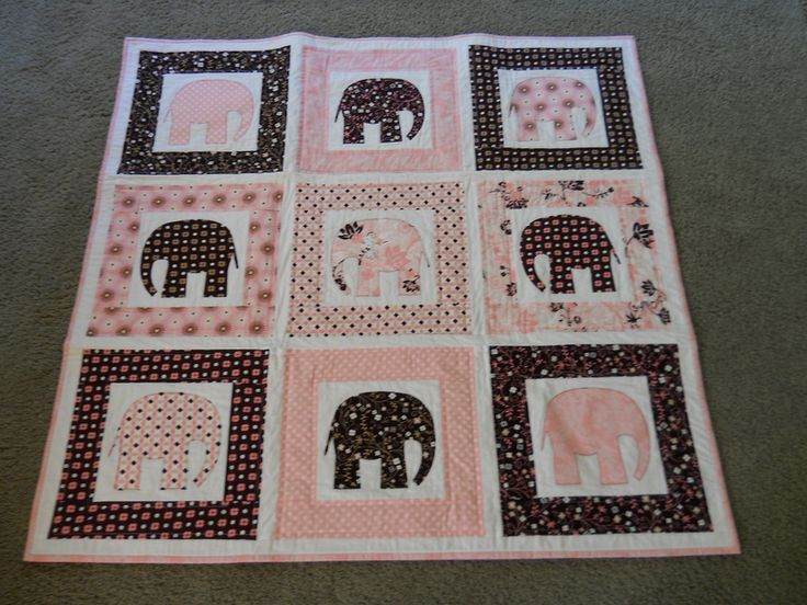 25+ best ideas about Elephant quilt on Pinterest Elephant quilts pattern, Baby quilts and ...