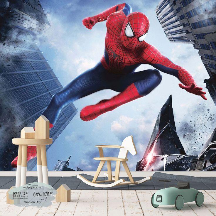 Spiderman Wall Mural, Superhero Mural, Children Book and ...