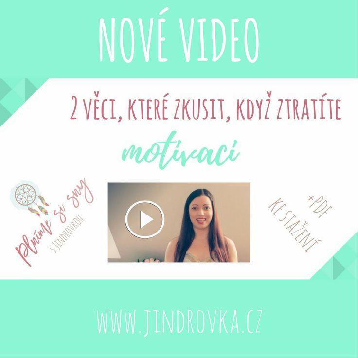 Nové video je venku :-) Taky se vám stává, že na cestě za vašimi sny ztratíte čas od času motivaci, cítíte se na dně a nevíte, jak dál? Tak mrkněte na video a zjistěte, co mi pomáhá, abych zůstala motivovaná :-) www.jindrovka.cz -projekt Plníme si sny  https://www.youtube.com/watch?v=mW1Gl_DtNG8