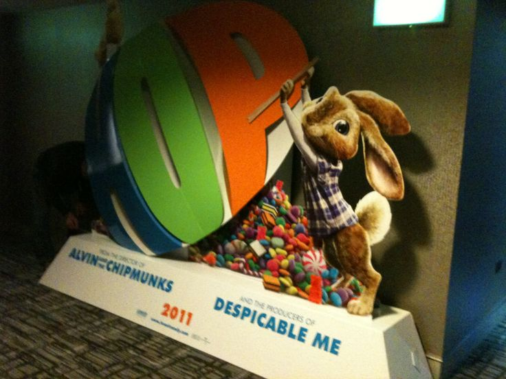 Hop - in cinema standee designed whilst at Creative Partnership