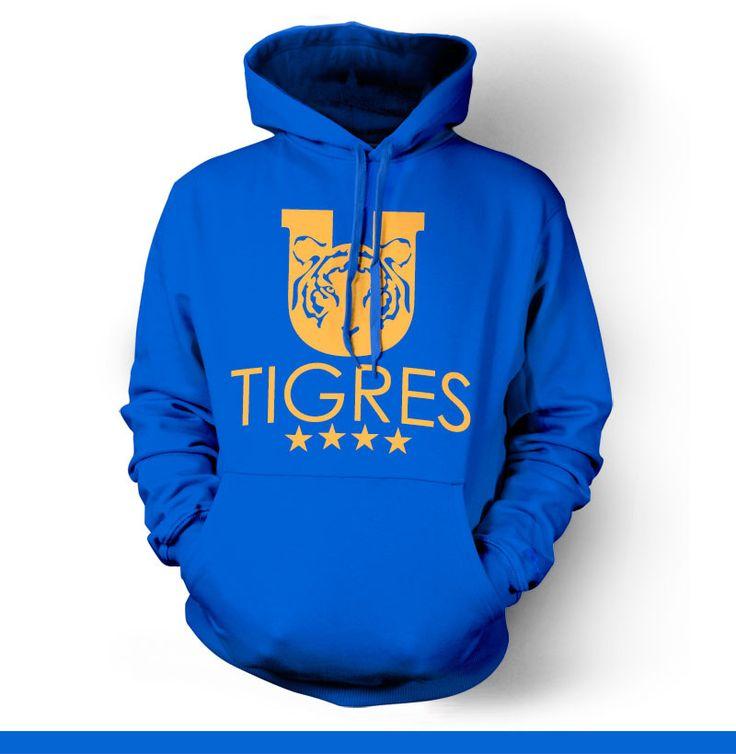 Tigres Monterrey UANL Mexico Hoody Sweatshirt Sudadera                                                                                                                                                                                 Más