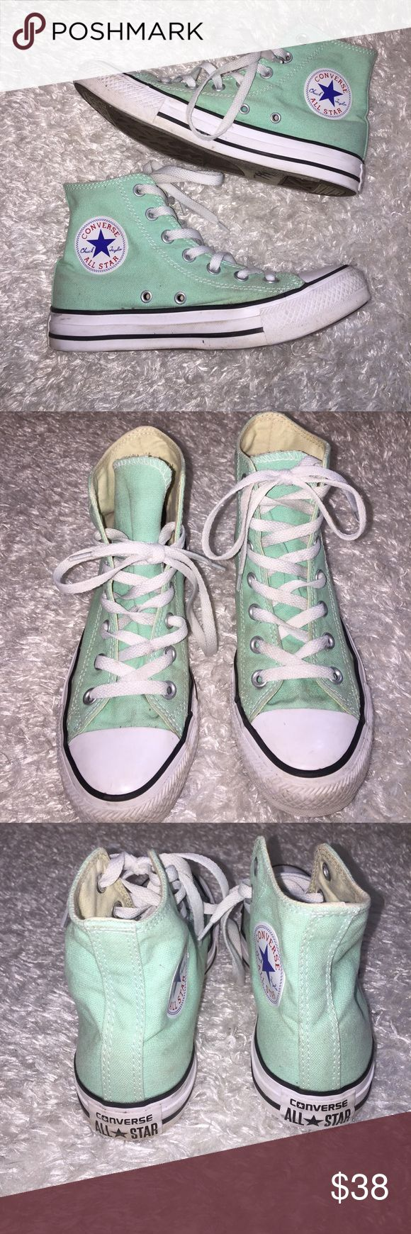 Mint High Top Converse Size 7, in excellent condition worn 2-3x max. Feel free to ask any questions! No trades sorry, && offers thru offer button only! I do not discuss prices in comments  Converse Shoes Athletic Shoes