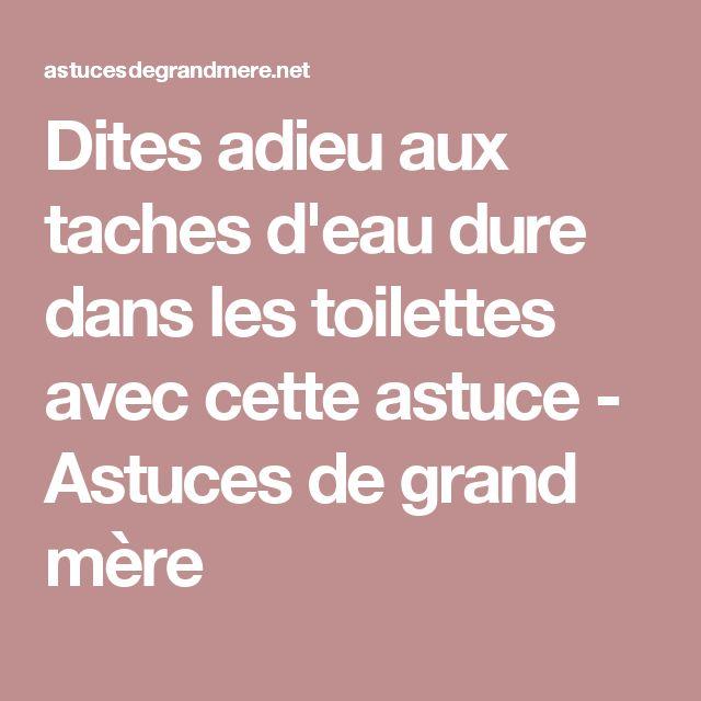 17 meilleures id es propos de nettoyer les s taches des toilettes sur pinte - Enlever le calcaire des toilettes ...