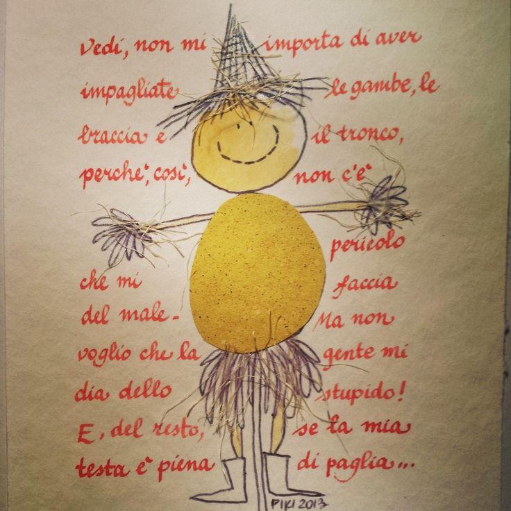 #Scarecrow #TheWizardofOz #Baum #PIKI #illustration #ink
