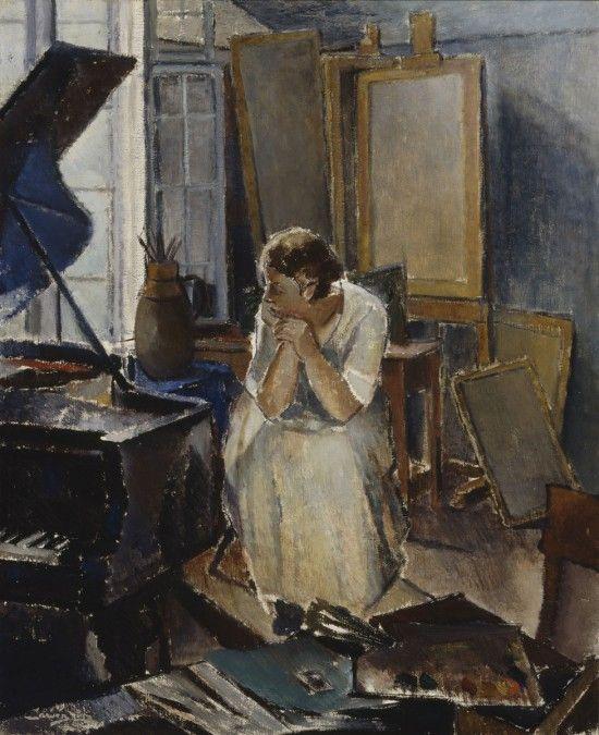poboh:    Studio Interior, Alvar Cawén. Finnish (1886 - 1935)
