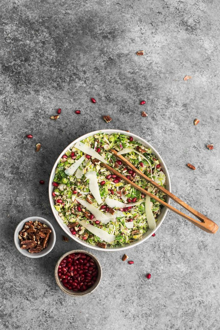 Shaved Brussels Sprout Salad with Manchego | @naturallyella