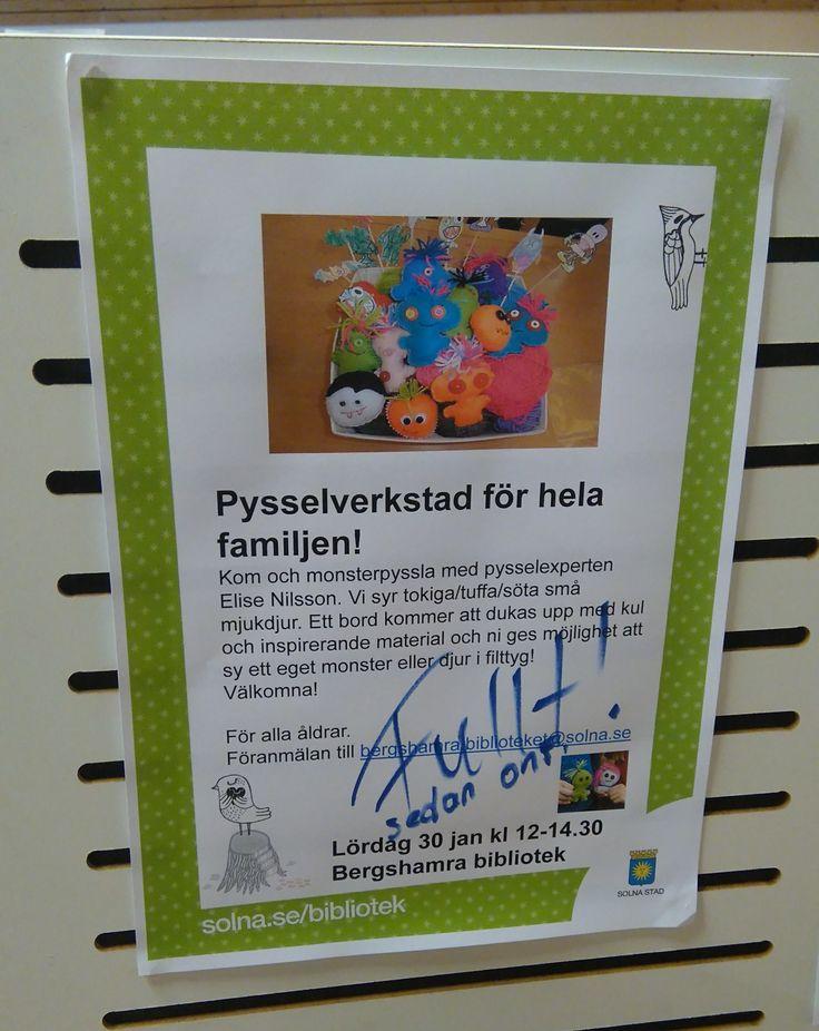 pyssel på Bergshamra bibliotek