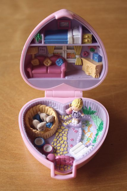 The best Polly Pocket - Cats, Pink Heart with tiny fish pond
