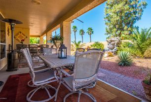 Southwestern Porch with Calton 7 Piece Dining Set with Cushions by Brayden Studio