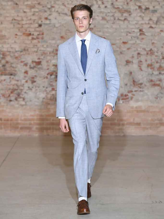 Canali Spring Summer 2019 Milan Fashion Week Down The Runway