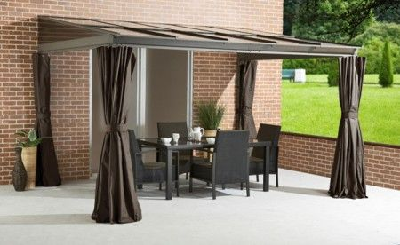 Four Seasons Wall Mounted Gazebo |  Sun Panels  The Four Seasons Wall Mounted Gazebo is the perfect alternative to a full conservatory extension.