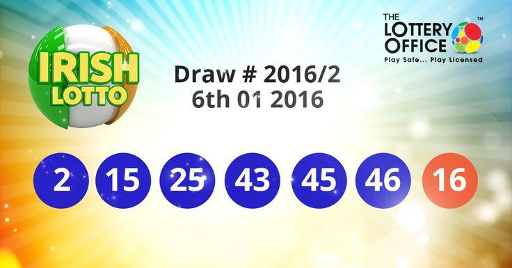Irish Lotto winning numbers results are here: #lotto #lottery #loteria #LotteryResults #LotteryOffice
