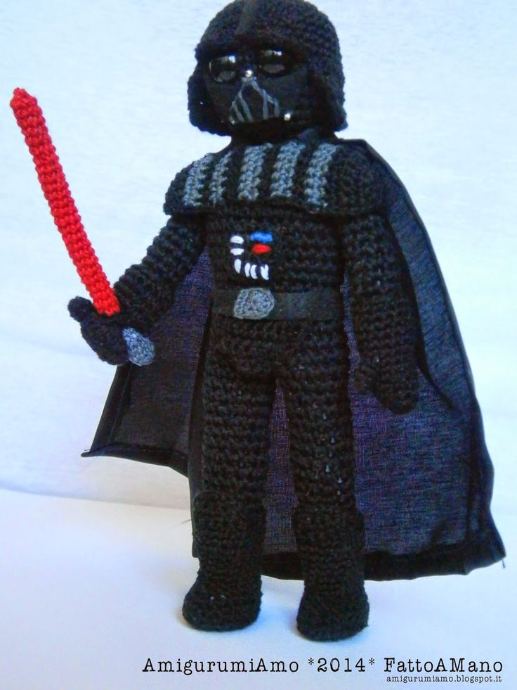 Free Crochet Star Wars Doll Patterns : AmigurumiAmo: amigurumi Darth Vader, Star Wars ...