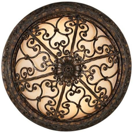 French Scroll Collection 16 Quot Wide Ceiling Light Fixture