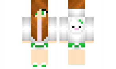 minecraft skin GreenBunnyGirl Cute skins Pinterest