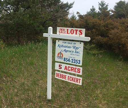 Door County Lots for Sale Sign