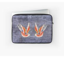 Red Swallows Laptop Sleeve by I Love the Quirky