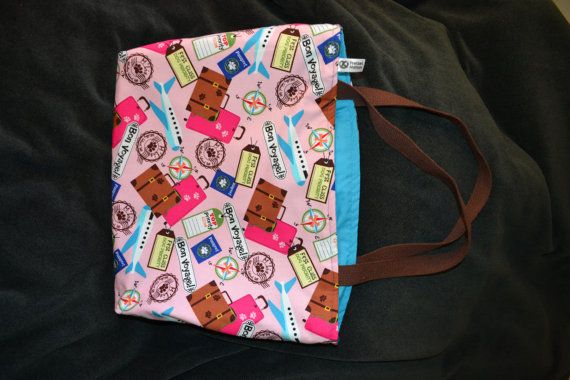 Cute dog/cat theme travel tote by PretzelNation on Etsy, $20.00