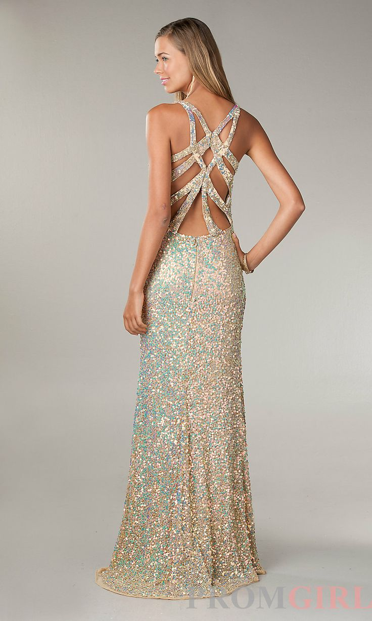 Gold Sequin Ball Gown – Fashion design images