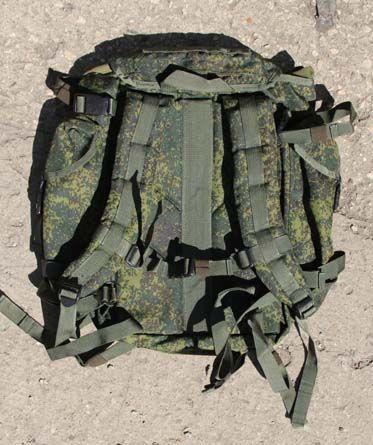 6Ш112 Комплект снаряжения, с ранцем. Разведчик-Стрелок. - Патрульный ранец из комплекта 6Ш112 - вид на тыльную сторону.