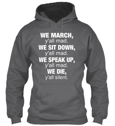 We March Gray Hoodie