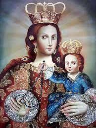 Virgen y el Niño del Rosario, arte hispanoamericano contemporáneo.