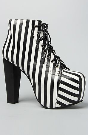 Jeffrey Campbell The Lita Shoe in Black and White Stripe : Karmaloop.com - Global Concrete Culture