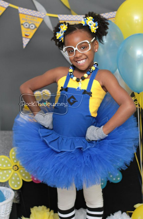 Girl Minion Birthday Party Tutu Outfit-Twins di RockTheJourney