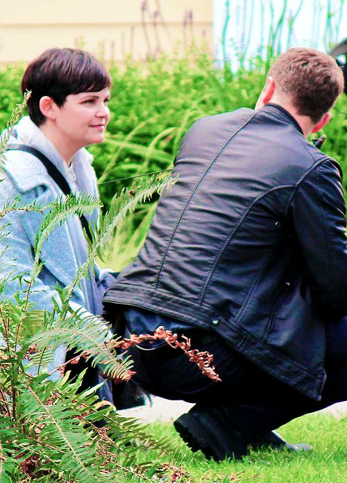 "daily-snowing: "" ""Josh Dallas & Ginnifer Goodwin gazing lovingly into each other's eyes on the set of Once Upon a Time, in Fort Langley, Canada (July 12, 2016) "" """