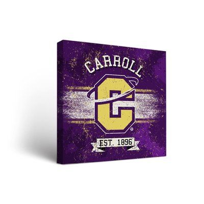 """Victory Tailgate NCAA Banner Version Framed Graphic Art on Wrapped Canvas NCAA Team: Carroll College Saints, Size: 24"""" H x 24"""" W x 1.5"""" D"""