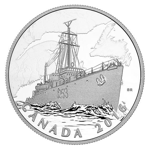 1 oz. Fine Silver Coin - The Canadian Home Front: Patrol Against U-boats - Mintage: 7,500 (2016)