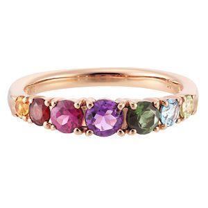 18K pink gold rainbow ring by Ginza Tanaka