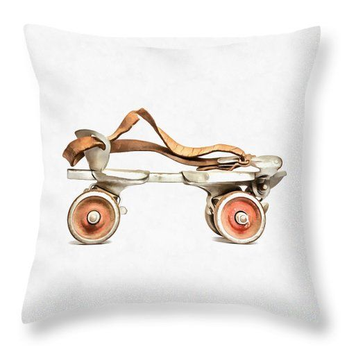 Fun roller skate throw pillow by Edward M. Fielding  https://pixels.com/products/vintage-roller-skate-painting-edward-fielding-throw-pillow.html