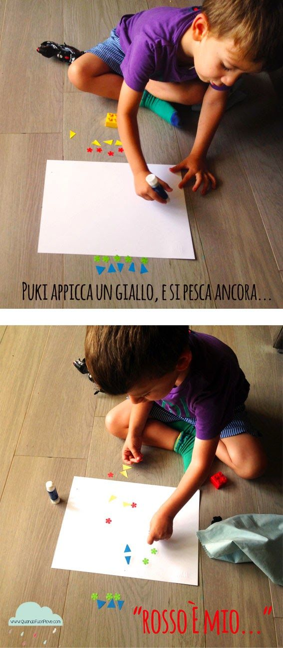 Quandofuoripiove: giochi da tavolo per bimbi fortunati: il gioco dei colori!