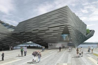 mega mega exciting project for Dundee opening in 2015....read this article for an insight into the Japanese architect who designed it! The V&A at Dundee :D