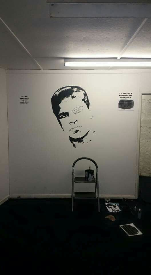 My 1st really big piece in my local boxing gym