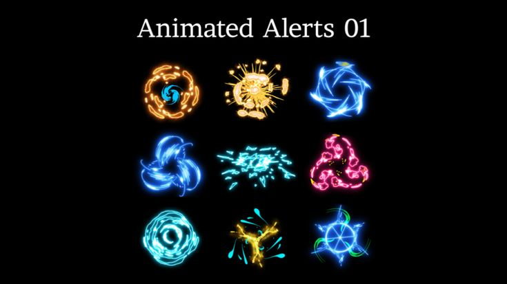Animated Stream Alerts 01 with Sound Effects Sound