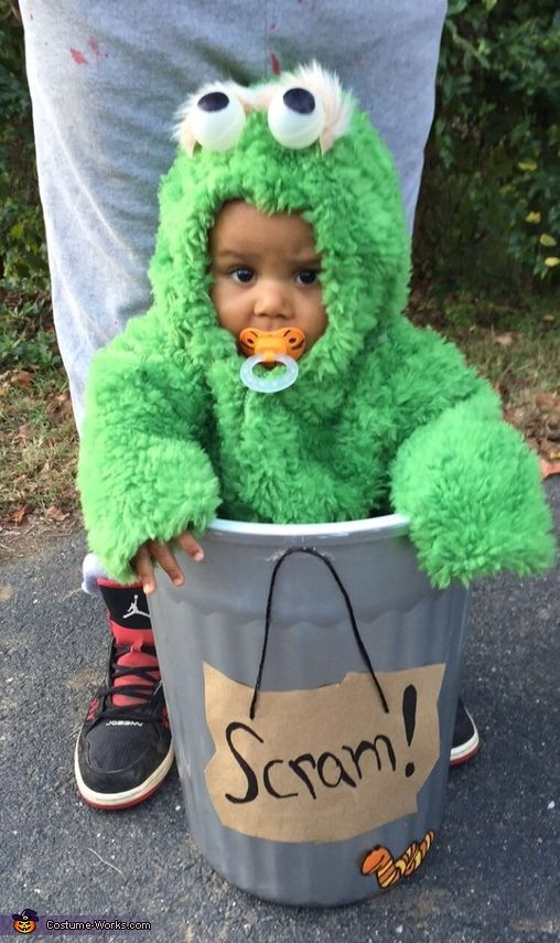 Oscar the Grouch - Cute Baby Halloween Costume Idea