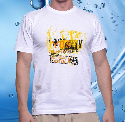 tshirt men, cotton combet gildan front custom Cargo Dockland Y85 (whit – UCUSTOMCASE
