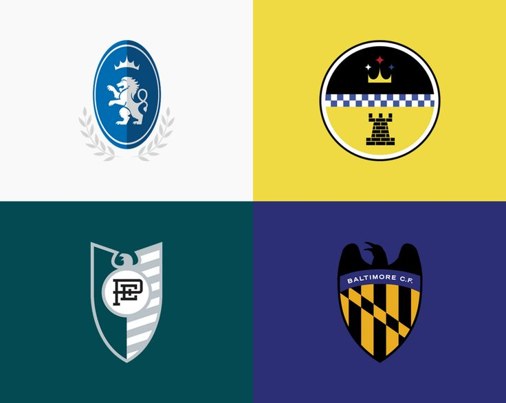 NFL logos redesigned to look like soccer logos from Europe