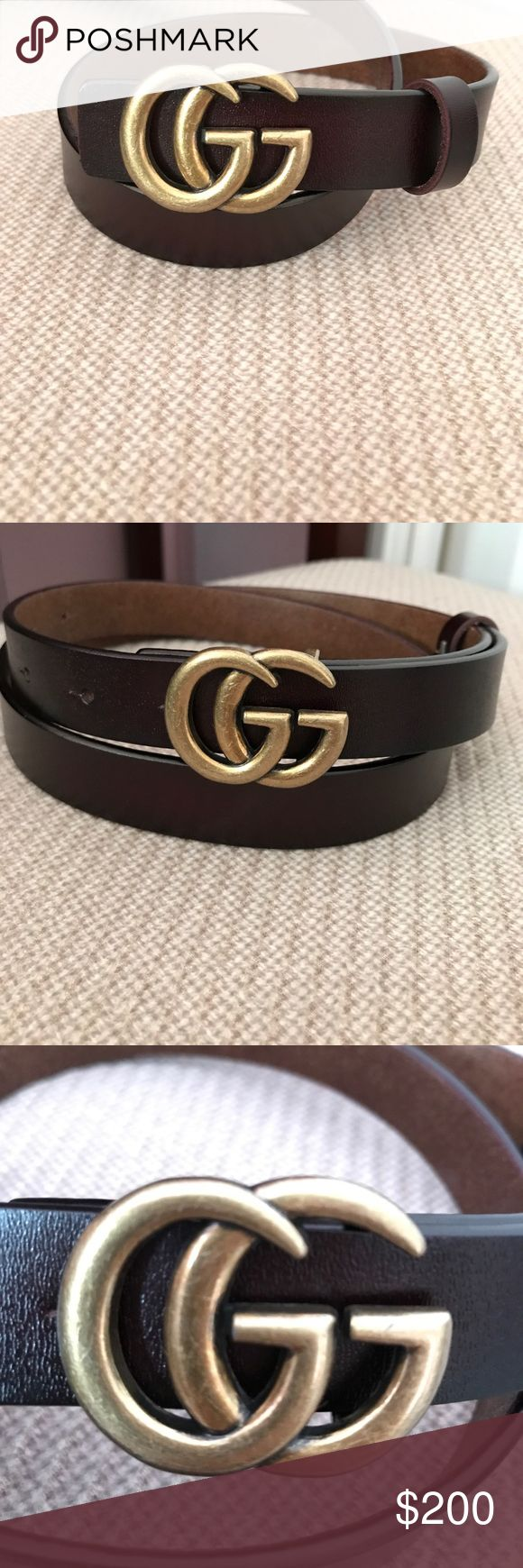 NEW Gucci belt BRAND NEW GUCCI BELT. I bought this but it's not really my style!  make me an offer :) Gucci Accessories Belts