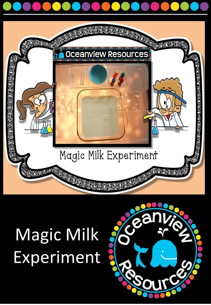 Science Magic Milk Experiment - Science has never been more fun with this great activity using resources found in the kitchen. 15 pages for $2! http://designedbyteachers.com.au/marketplace/science-magic-milk-experiment/