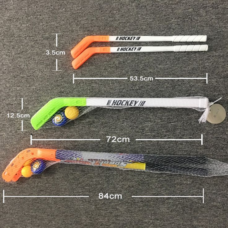 4pcs/set Kids Child Winter Ice Hockey Stick Training Tools Plastic 2xSticks 2xBall  Sports Toy for less 10 years 062202