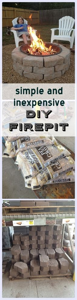 Tutorial to make this easy, inexpensive backyard firepit